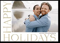 framed sentiment holiday card