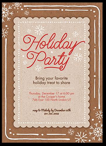 Craft Snowflakes Holiday Invitation