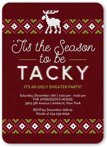 To Be Tacky Holiday Invitation