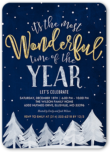 Wintry Forest Holiday Invitation