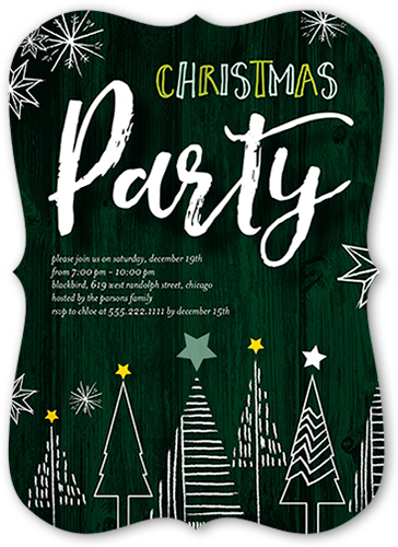 Starry Trees Holiday Invitation
