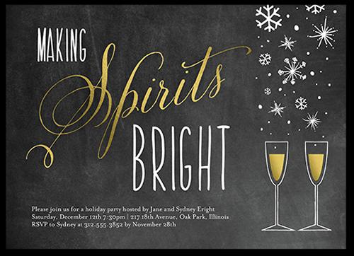 Sparkling Spirits Holiday Invitation