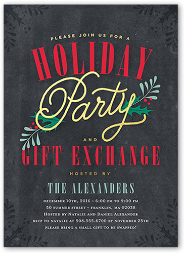 Seasonal Festivities Holiday Invitation