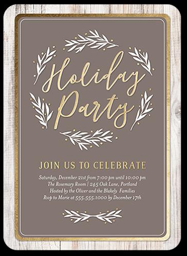 Golden Garland Holiday Invitation