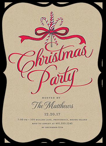 Elegant Festivities Holiday Invitation, Bracket Corners