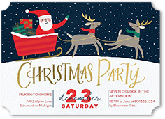 flat christmas party invitations shutterfly