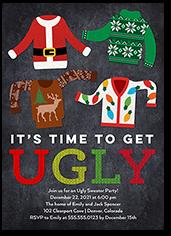 ugliest sweaters holiday invitation