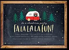 yule camper holiday invitation