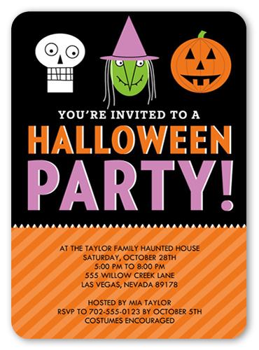 Spooky Soiree Halloween Invitation