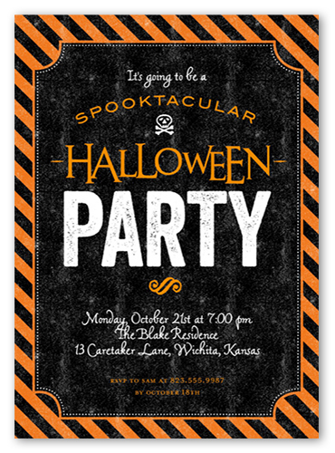 Freaky Frame Halloween Invitation, Square Corners