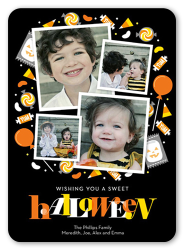 Candy circle 5x7 stationery card halloween greeting cards shutterfly front m4hsunfo
