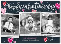 charming hearts valentines card 5x7 flat
