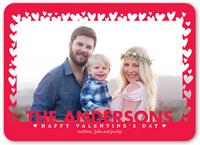 cutout hearts valentines card 5x7 flat