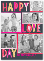lovely type valentines card 5x7 flat
