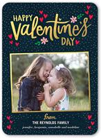 sparkling valentines valentines card 5x7 flat