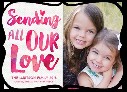 Sending Our Love Valentine's Card, Bracket Corners