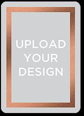upload your own foil design portrait valentines card 5x7 flat