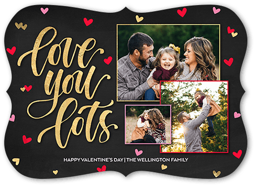 Love You Lots Valentine's Card, Bracket Corners