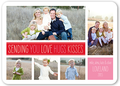 Sending Hugs Kisses Valentine's Card