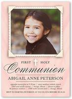 holy communion girl communion invitation 5x7 flat