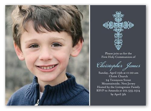 Gaelic Cross Boy Communion Invitation Shutterfly
