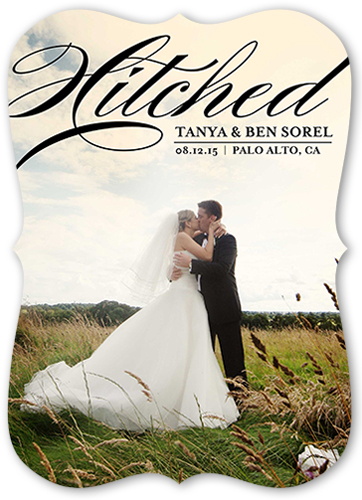 Scripted Hitched Wedding Announcement
