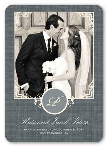 Sealed With Love Wedding Announcement, Rounded Corners