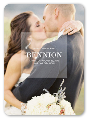 Darling I Do Wedding Announcement, Rounded Corners