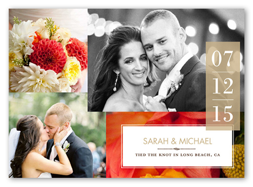 Sweet Ever After Wedding Announcement, Square Corners