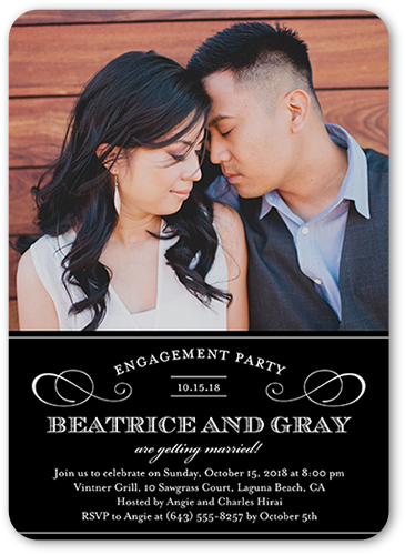 Love Forever Engagement Party Invitation, Rounded Corners
