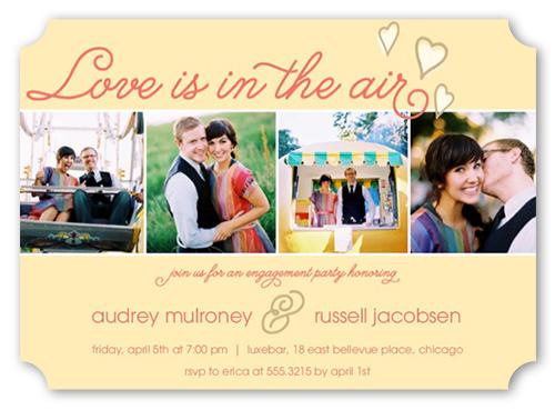 pretty wedding engagement party invitations