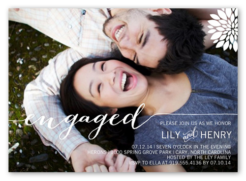Elegant Engagement Engagement Party Invitation, Square Corners