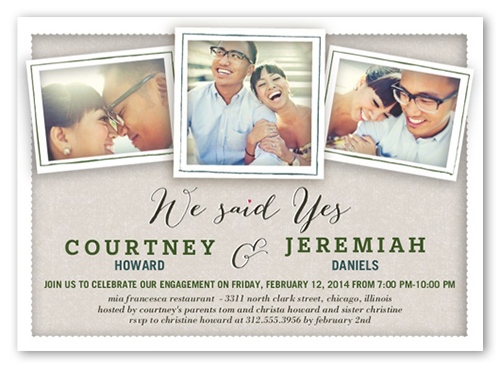 Just Said Yes Engagement Party Invitation, Square Corners