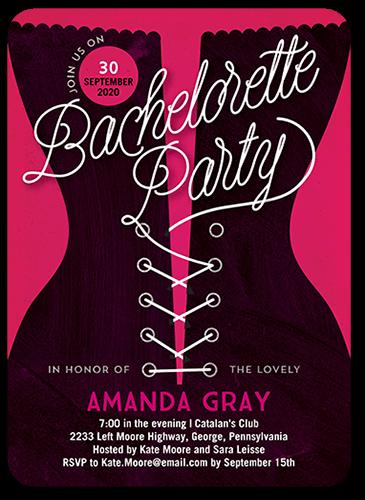 Pretty 5x5 Bachelorette Party Invitations | Shutterfly