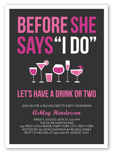 before the i do 5x7 card bachelorette party invitations shutterfly