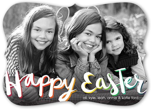 Fabulous Script Easter Card, Bracket Corners