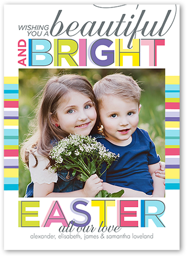 Beautiful And Bright Easter Card, Square Corners