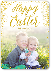 easter confetti easter card 5x7 flat