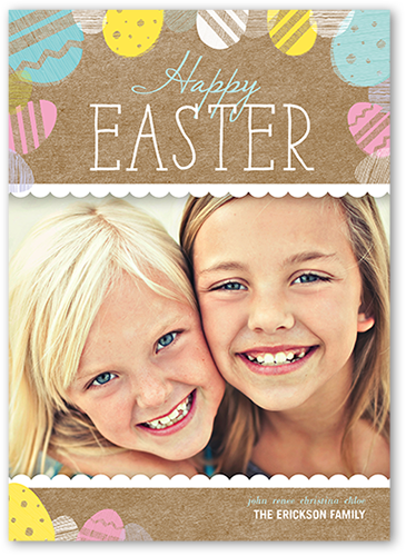 Easter Egg Stamps Easter Card, Square