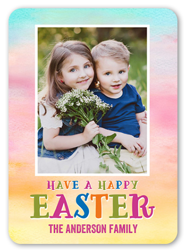 Happiest Colors Easter Card, Rounded Corners