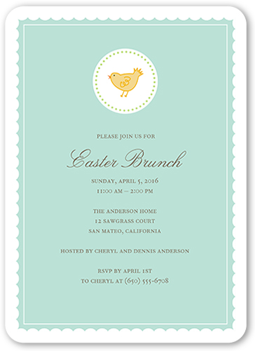 Chique Chick Easter Invitation