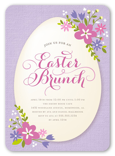 Easter Blooms Easter Invitation, Rounded Corners