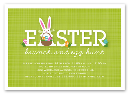 Bunny Brunch Easter Invitation