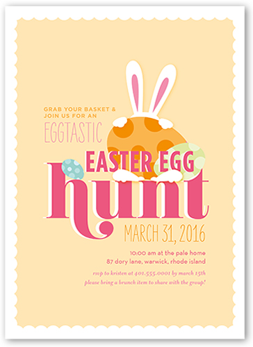 Eggtastic Egg Hunt Easter Invitation