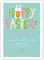 little bunny rabbit easter invitation 5x7 flat