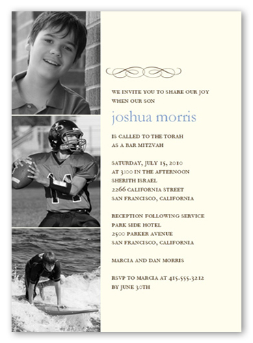 Bar Mitzvah Filmstrip Bar Mitzvah Invitation