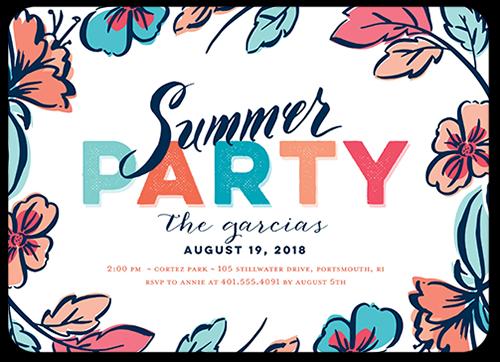 colorful summer invitation party invitations