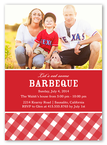 BBQ Party Summer Invitation