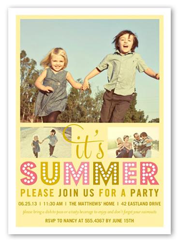 Oh So Chic Summer Invitation, Square Corners