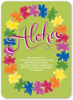 luau party invitations  luau birthday invitations  shutterfly, Birthday invitations
